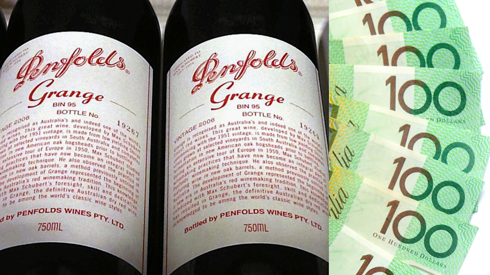 Penfolds Grange sells for record $112,001. Source: Getty