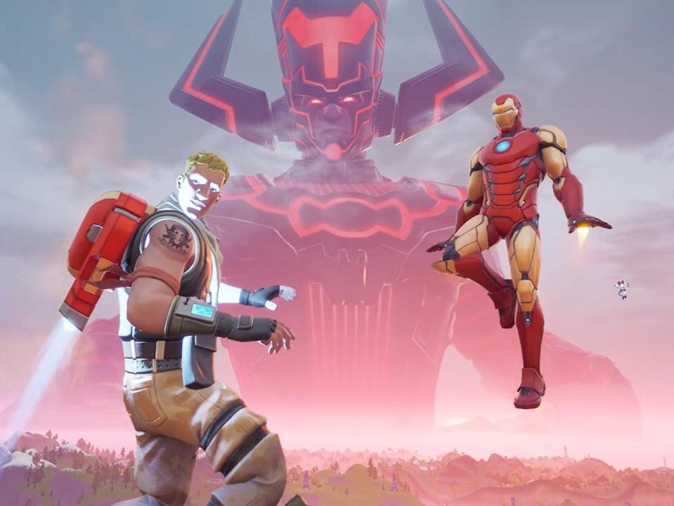 A still from the Galactus event in Fortnite (Faiz via YouTube / Epic Games)