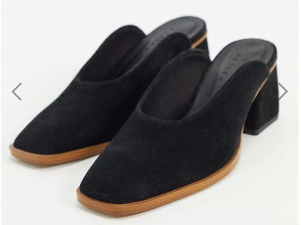 ASOS Signal premium leather mid-heeled mules, S$74.11 (was S$92.64). PHOTO: ASOS