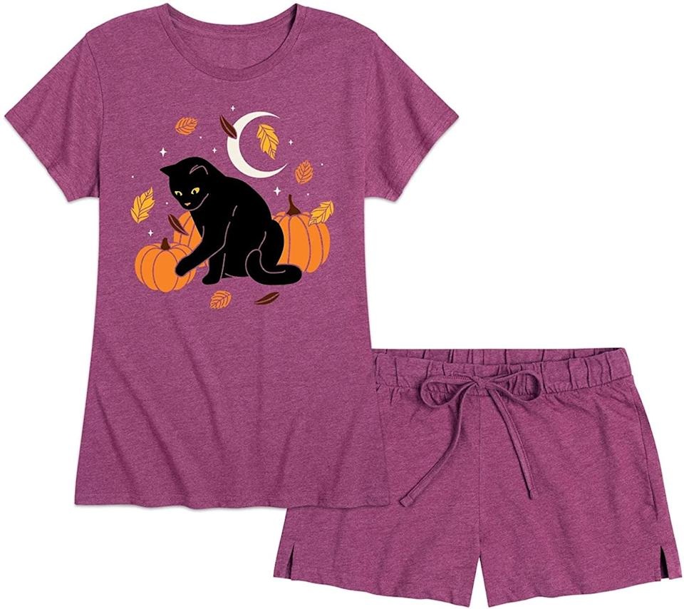 <p>All the cool cats and kittens will be cuddling up in this <span>Nap Chat Fall and Halloween Theme PJ Set</span> ($21). It's such a fun find for those who want a set that's not black and orange.</p>