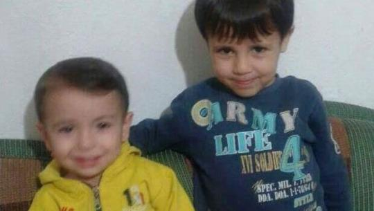 Aylan is photographed with his older brother, Galip.
