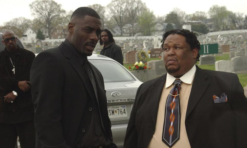 Idris Elba with Robert F Chew in the The Wire.