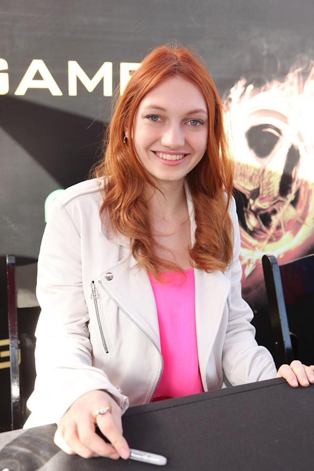 """Jacqueline Emerson at """"The Hunger Games"""" World Premiere: """"The Hob"""" Fan Event held at Nokia Theatre LA Live on March 11, 2012 in Los Angeles, California."""
