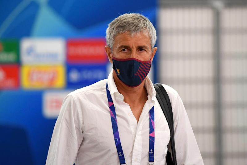 Quique Setién, antes de saber la que se le venía encima. (Photo: UEFA via Getty Images)