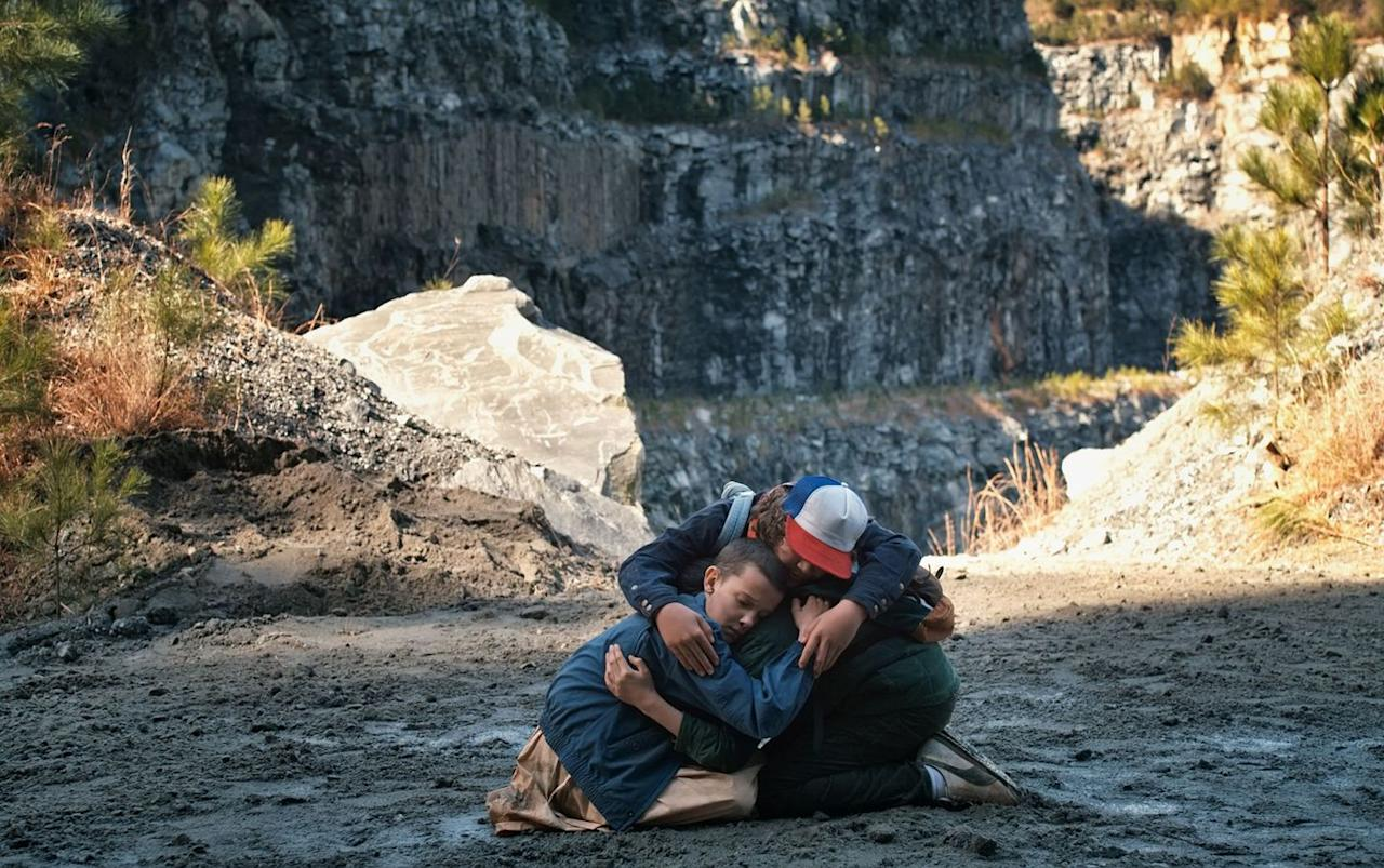 """<p>On <em>Stranger Things </em>season 1<em>, </em><a href=""""https://www.youtube.com/watch?v=hYMf9dpfdeg"""" target=""""_blank"""">Sattler Quarry</a> is where Eleven uses her telekinetic to save Dustin and Mike from bullies. She then breaks a bully's arm, because she's a total badass, obviously.<em></em></p>"""