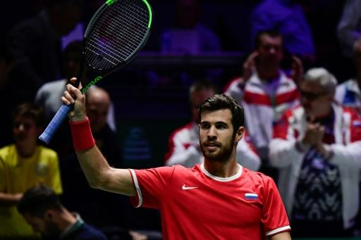 Khachanov beat Coric to complete Russia's win