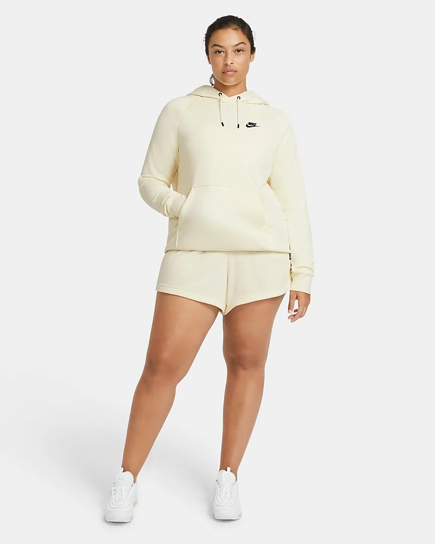 """<h2>Nike</h2><br><br><strong>Nike</strong> Women's Shorts (Plus Size), $, available at <a href=""""https://go.skimresources.com/?id=30283X879131&url=https%3A%2F%2Fwww.nike.com%2Ft%2Fsportswear-essential-womens-french-terry-shorts-WdjJ92%2FCZ3554-113"""" rel=""""nofollow noopener"""" target=""""_blank"""" data-ylk=""""slk:Nike"""" class=""""link rapid-noclick-resp"""">Nike</a><br><br><strong>Nike</strong> Fleece Pullover Hoodie, $, available at <a href=""""https://go.skimresources.com/?id=30283X879131&url=https%3A%2F%2Fwww.nike.com%2Ft%2Fsportswear-essential-womens-fleece-pullover-hoodie-plus-size-rg0fR7%2FBV4124-113"""" rel=""""nofollow noopener"""" target=""""_blank"""" data-ylk=""""slk:Nike"""" class=""""link rapid-noclick-resp"""">Nike</a>"""