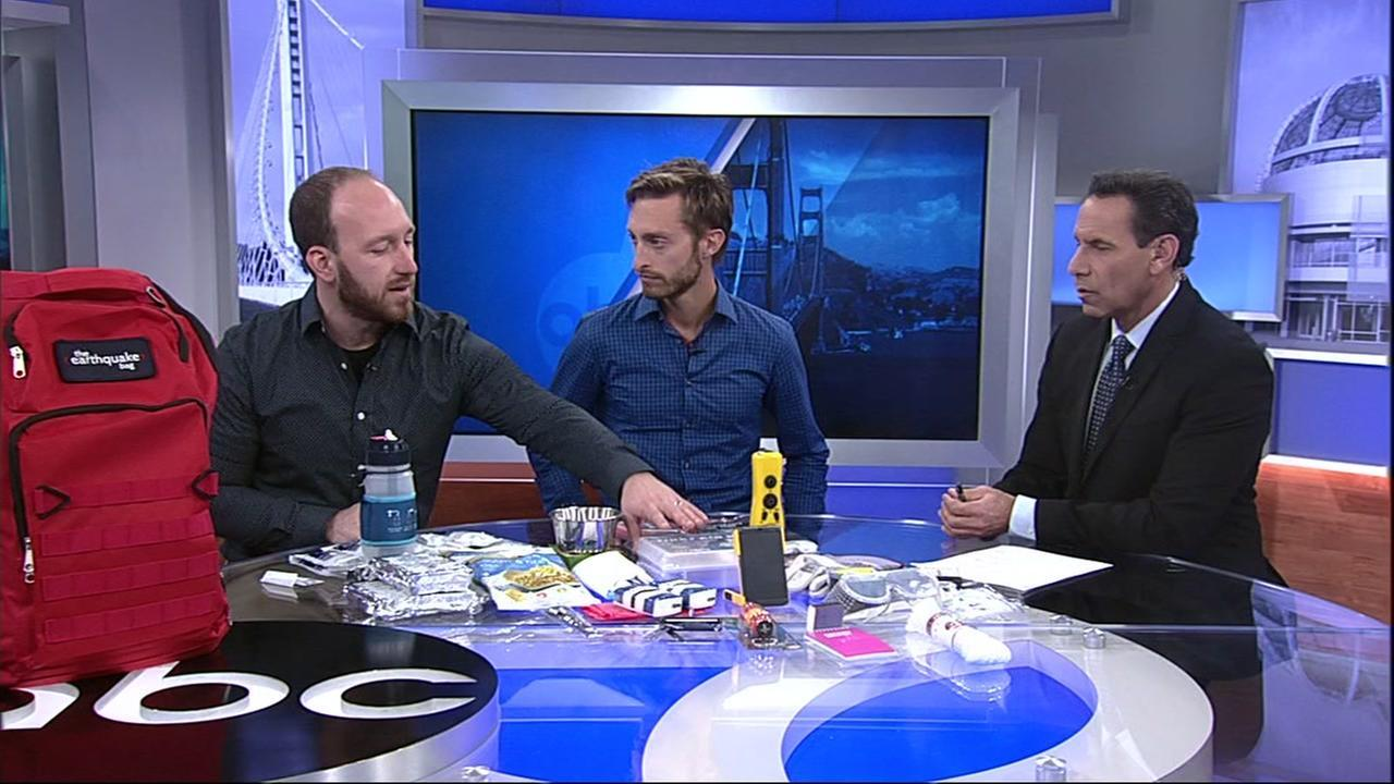 Would you be ready if a big quake were to hit the Bay Area? Skyler Hallgren and Zach Miller started a company called Earthquake Bag. Here's what they say you need to be prepared.