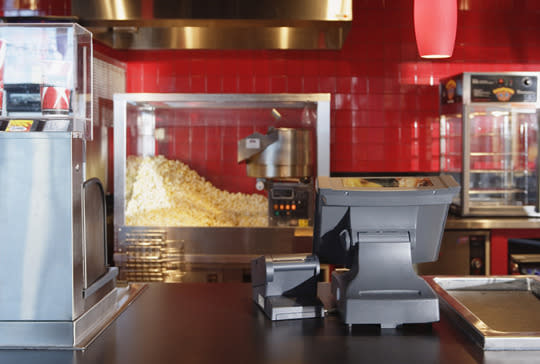"""<p>Movie theaters should be following the same standards as restaurants, including storing food safely at appropriate temperatures and keeping food-preparation tools (including hot-dog warmers and popcorn machines) clean and sanitary.</p><p>""""The concession stands are like mini fast-food places where snacks are dispensed quickly and the clean-up is minimal at best,"""" Duberg says. """"Sugary treats, especially liquids like soda, stick on the counters and are a great breeding place for bacteria, which are then transferred to every person who picks up their order."""" Be aware of your surroundings and look for signs that staff may not be following appropriate protocol. The bottom line: If it looks dirty, it probably is.</p><p><i>(Photo: Corbis Images)</i><br></p>"""