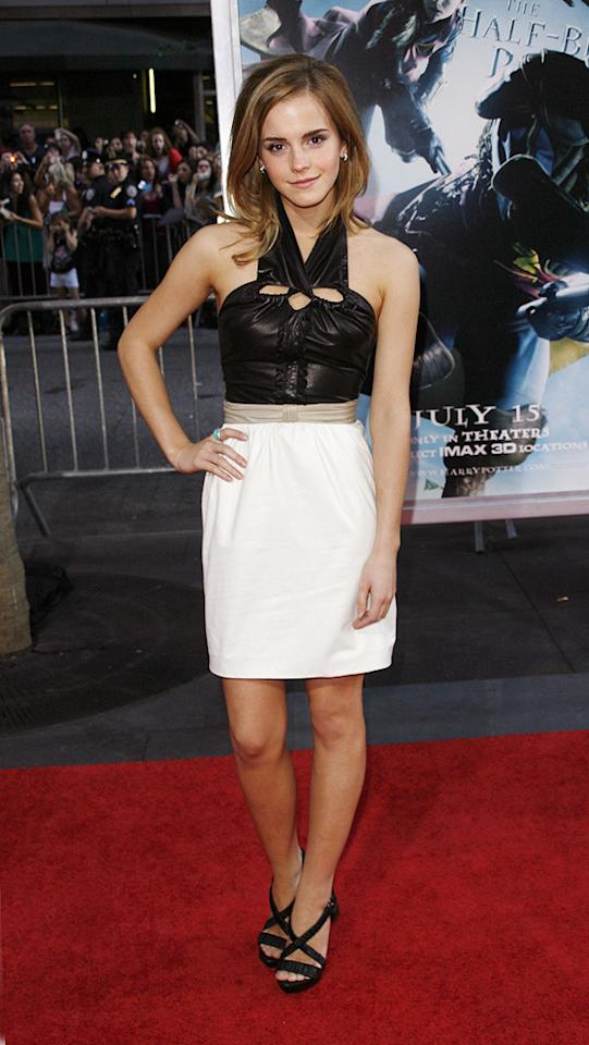 "2009  <a href=""http://movies.yahoo.com/movie/1809791044/info"">Harry Potter and the Half-Blood Prince</a> NY premiere  Toying with an edgier look in this leather Proenza Schouler dress and platform sandals."