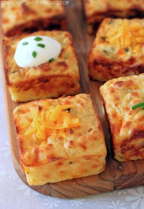 "<p>If you have a muffin tin, try baking up a batch of these mashed potato puffs. This recipe calls for parmesan, and cheddar and chives, but you can mix it with whatever fillings you desire! <br>Get the recipe <a href=""http://www.cinnamonspiceandeverythingnice.com/leftover-mashed-potato-puffs/#lgB1A4glDEFKkqQR.32"" rel=""nofollow noopener"" target=""_blank"" data-ylk=""slk:here"" class=""link rapid-noclick-resp""><strong>here</strong></a><br>[Photo: Cinnamon Spice and Everything Nice] </p>"