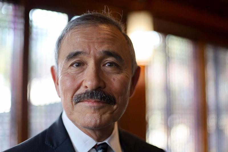 Harry Harris has defended his moustache (AFP via Getty Images)