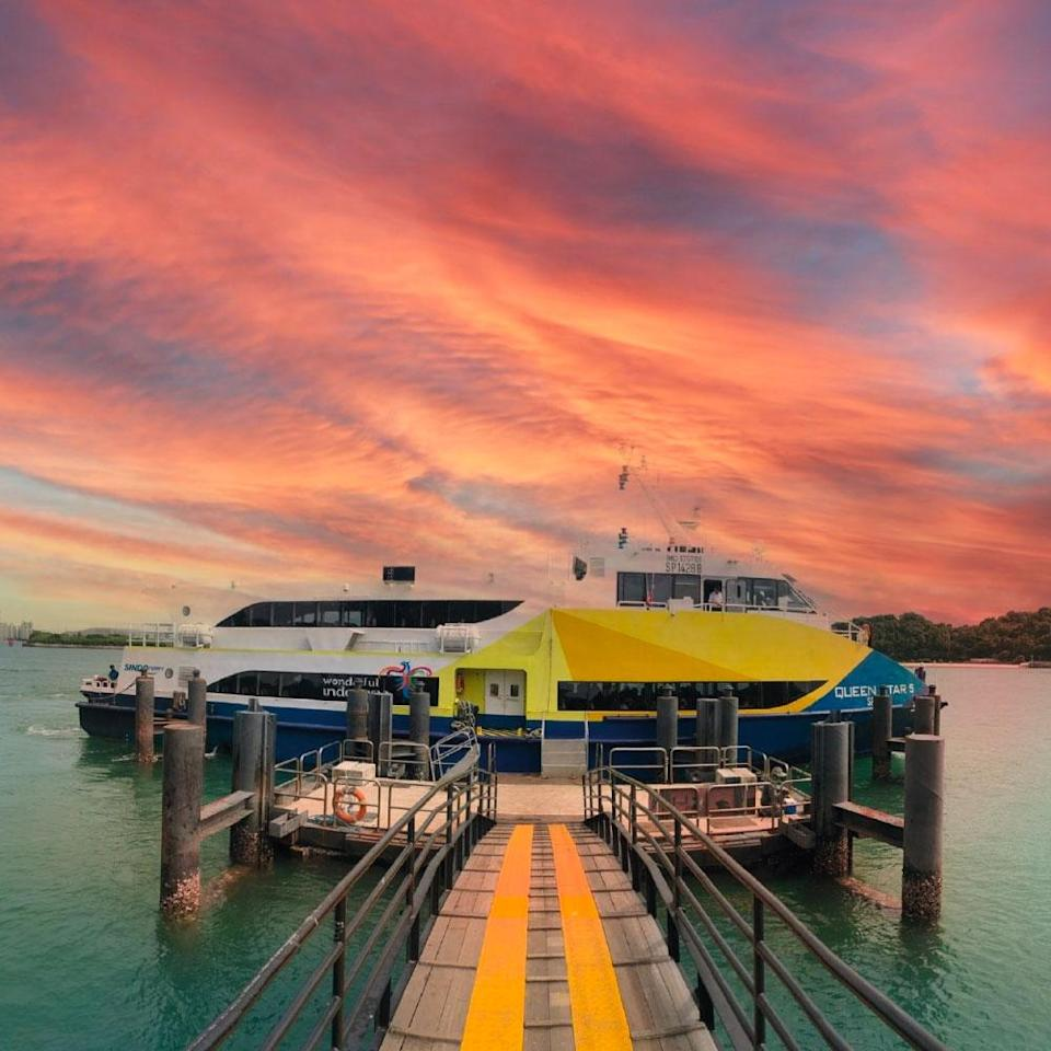 view from sindo ferry's sunset voyage