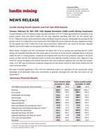 Lundin Mining Fourth Quarter and Full Year 2020 Results (CNW Group/Lundin Mining Corporation)