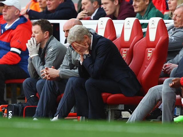 Arsene Wenger's side did not emerge for the second half with a designated captain: Getty