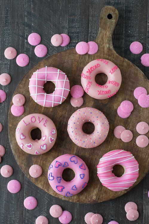 "<p>These pretty-in-pink doughnuts are the best way to start your Valentine's Day.</p><p><strong>Get the recipe at <a href=""http://thefirstyearblog.com/valentines-day-donuts/"" rel=""nofollow noopener"" target=""_blank"" data-ylk=""slk:The First Year"" class=""link rapid-noclick-resp"">The First Year</a>.</strong></p>"