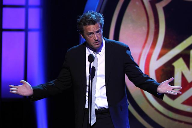 LAS VEGAS, NV - JUNE 20: Actor Matthew Perry speaks during the 2012 NHL Awards at the Encore Theater at the Wynn Las Vegas on June 20, 2012 in Las Vegas, Nevada. (Photo by Isaac Brekken/Getty Images)
