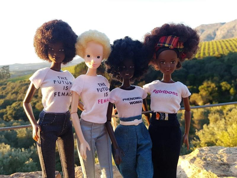 Like the other dolls in Bryan's Afro-Caribbean-inspired line, Alexa has a storyline in her imaginary Malaville world and is<strong> </strong>an artist.  (Courtesy of Mala Bryan)