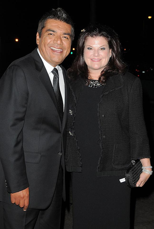 "Late-night talker George Lopez and his wife of 17 years, Ann, made a classy couple at the glam gala. The comedian was one of the evening's honorees for his dedication to the group. Jordan Strauss/<a href=""http://www.wireimage.com"" target=""new"">WireImage.com</a> - September 23, 2010"