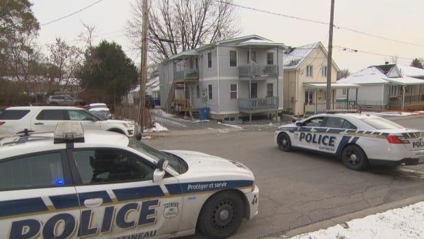 Gatineau police investigate the death of 20-year-old Johnny Normand in November 2018. David Emond pleaded guilty Thursday to the lesser charge of manslaughter.  (CBC - image credit)