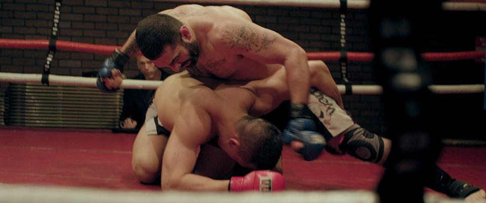 """<p>After swearing off mixed martial arts for good, Joe Carman comes out of retirement for another chance to prove himself in the ring. With his wife and four kids left in the dark, Joe puts everything that matters most on the line.</p> <p><a href=""""http://www.hulu.com/movie/the-cage-fighter-759b6dcd-a284-48ba-b89a-b965969ee5bb"""" class=""""link rapid-noclick-resp"""" rel=""""nofollow noopener"""" target=""""_blank"""" data-ylk=""""slk:Watch The Cage Fighter on Hulu."""">Watch <strong>The Cage Fighter</strong> on Hulu.</a></p>"""