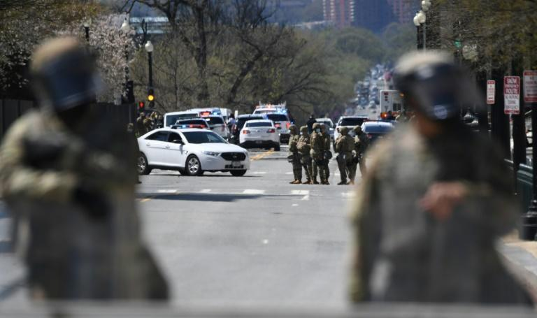 The incident came amid tightened security in Washington after the January 6 insurrection by supporters of then-president Donald Trump