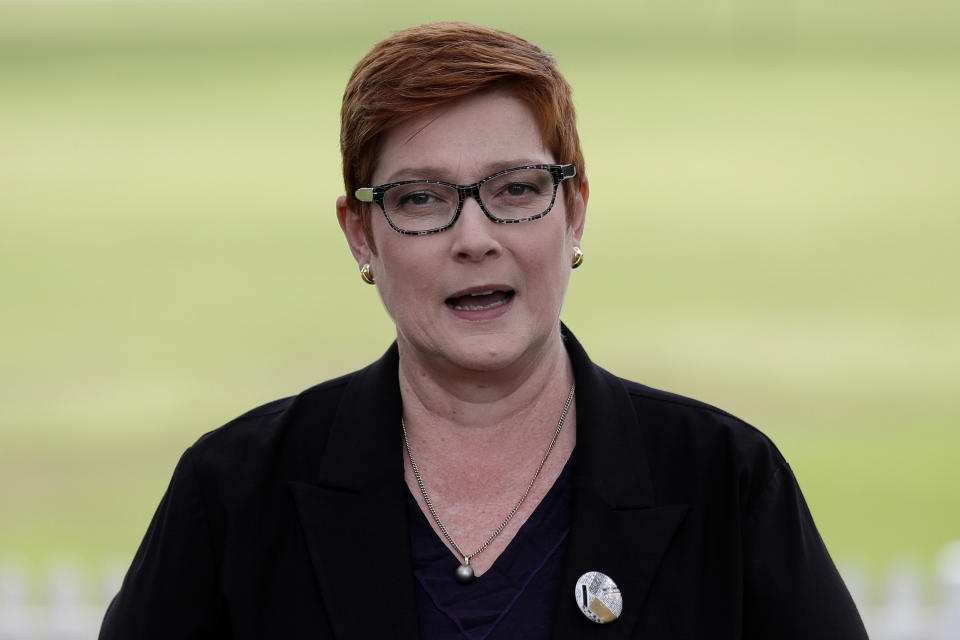 Australian Foreign Minister Marise Payne tore up Victoria's Belt and Road Initiative agreements with Beijing. Source: AAP