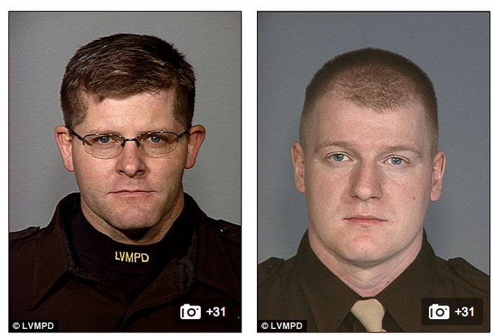 Las Vegas Police Officers Alyn Beck (left) and Igor Soldo (right)