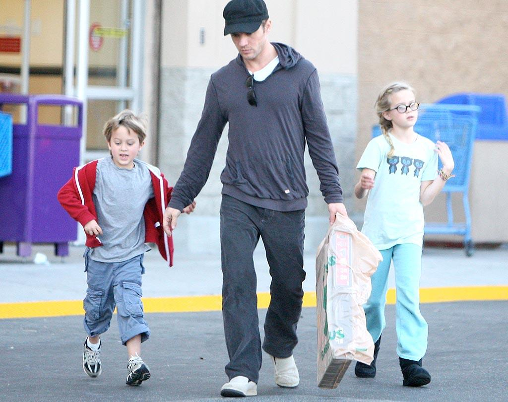 """Actor Ryan Phillippe (who co-parents with ex-wife Reese Witherspoon) lives in the spotlight, but he always appears to be working hard to make life normal for his kids Deacon, 6, and Ava, 10. IONU/<a href=""""http://www.x17online.com"""" target=""""new"""">X17 Online</a> - February 20, 2010"""