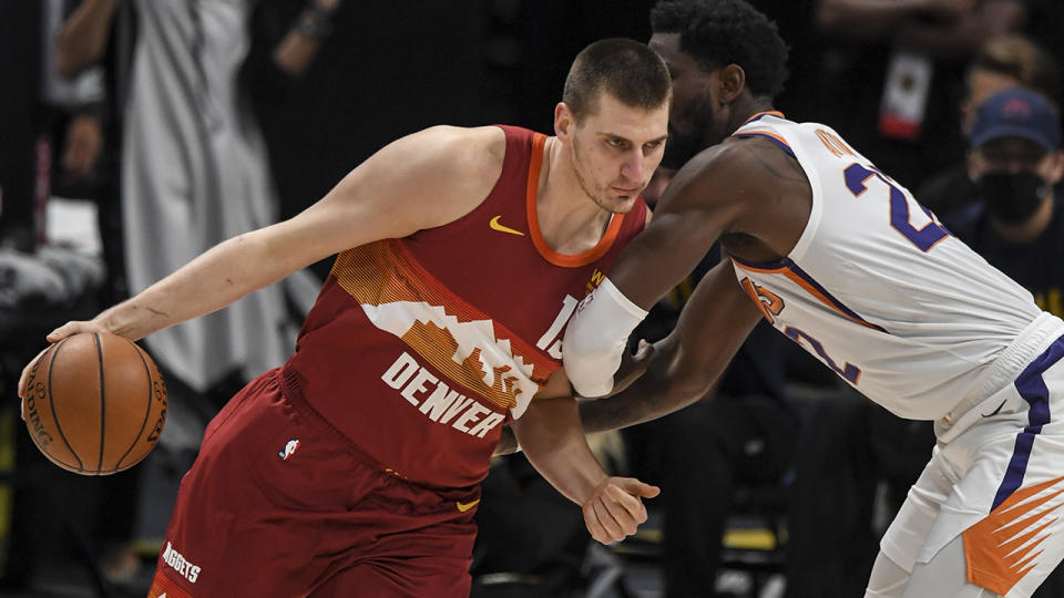 NBA MVP Nikola Jokic cited a need for rest as his reason for not competing for Serbia in the lead-up to the Tokyo Olympics. (Photo by AAron Ontiveroz/MediaNews Group/The Denver Post via Getty Images)