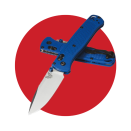 """<p><strong>benchmade</strong></p><p>benchmade.com</p><p><strong>$150.00</strong></p><p><a href=""""https://www.benchmade.com/bugout-family.html"""" rel=""""nofollow noopener"""" target=""""_blank"""" data-ylk=""""slk:BUY IT HERE"""" class=""""link rapid-noclick-resp"""">BUY IT HERE</a></p><p>This slim and lightweight favorite just got even better with the ability to customize your backpacking knife to your liking. Choose from 17 different handle scale colors, a variety of hardware color, and even select from four different top-rated blades. </p>"""