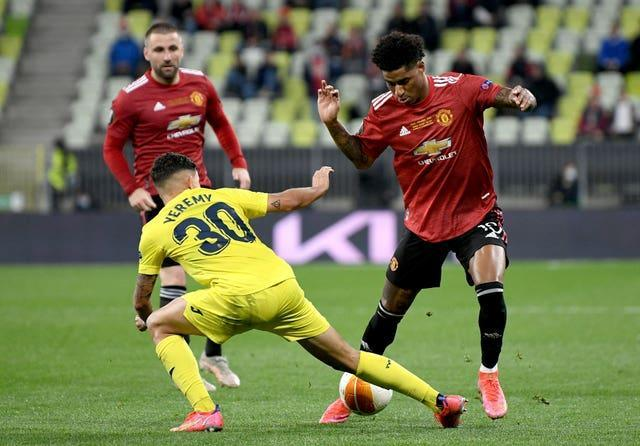 Rashford had a disappointing game in the final in Gdansk