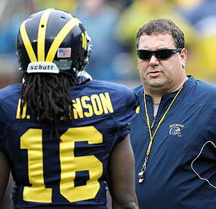Denard Robinson and Brady Hoke have quickly developed a strong relationship. (Getty)