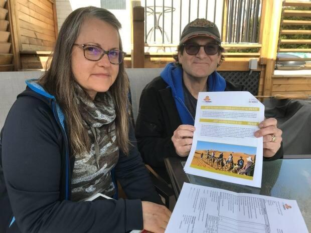 More than a year after their Morocco trip was cancelled due to COVID-19, Annie Roy and Kevin Major are still waiting to be reimbursed by the Compensation Fund for Customers of Travel Agents. (Hugo Lalonde/CBC - image credit)