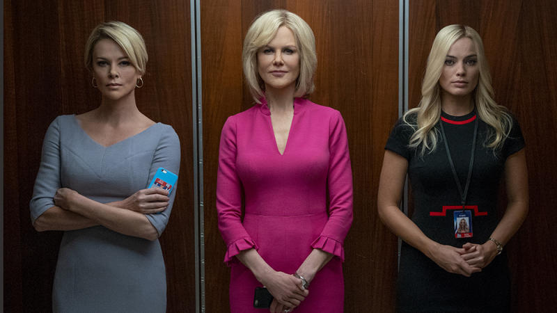 "Charlize Theron, Nicole Kidman and Margot Robbie star in ""Bombshell"". (Photo: Lionsgate)"