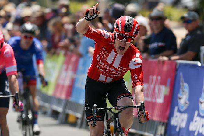 Alberto Dainese (Sunweb) wins stage 1 of the 2020 Herald Sun Tour