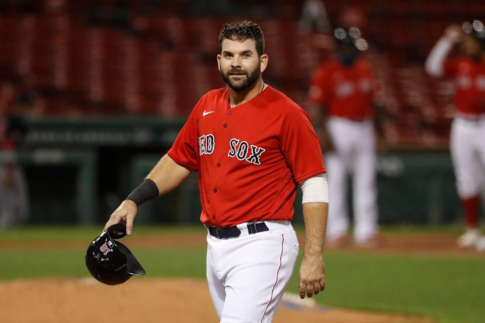 Mitch Moreland was one of the few bright spots for the Boston Red Sox in 2020, hitting .328 with eight homers and 21 RBI in 22 games.