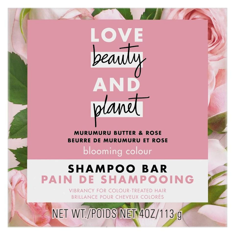 <p>The <span>Love Beauty and Planet Muru Muru Shampoo Bar </span> ($5) smells floral and refreshing, is free of harsh cleansers, leaves hair soft, and is even color safe. </p>