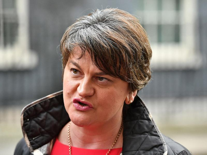 DUP's Arlene Foster warned against using 'threats of violence' as a bargaining chip in Brexit talks: PA