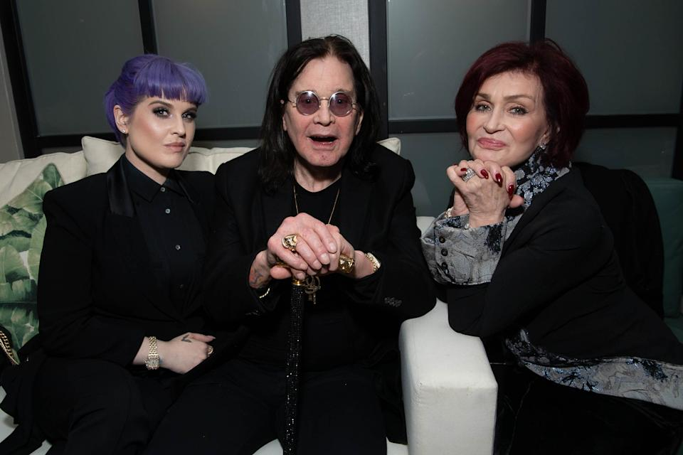 WEST HOLLYWOOD, CALIFORNIA - DECEMBER 04: Kelly Osbourne, Ozzy Osbourne and Sharon Osbourne attend the after party for the special screening of Momentum Pictures' 'A Million Little Pieces' on December 04, 2019 in West Hollywood, California. (Photo by Emma McIntyre/Getty Images)