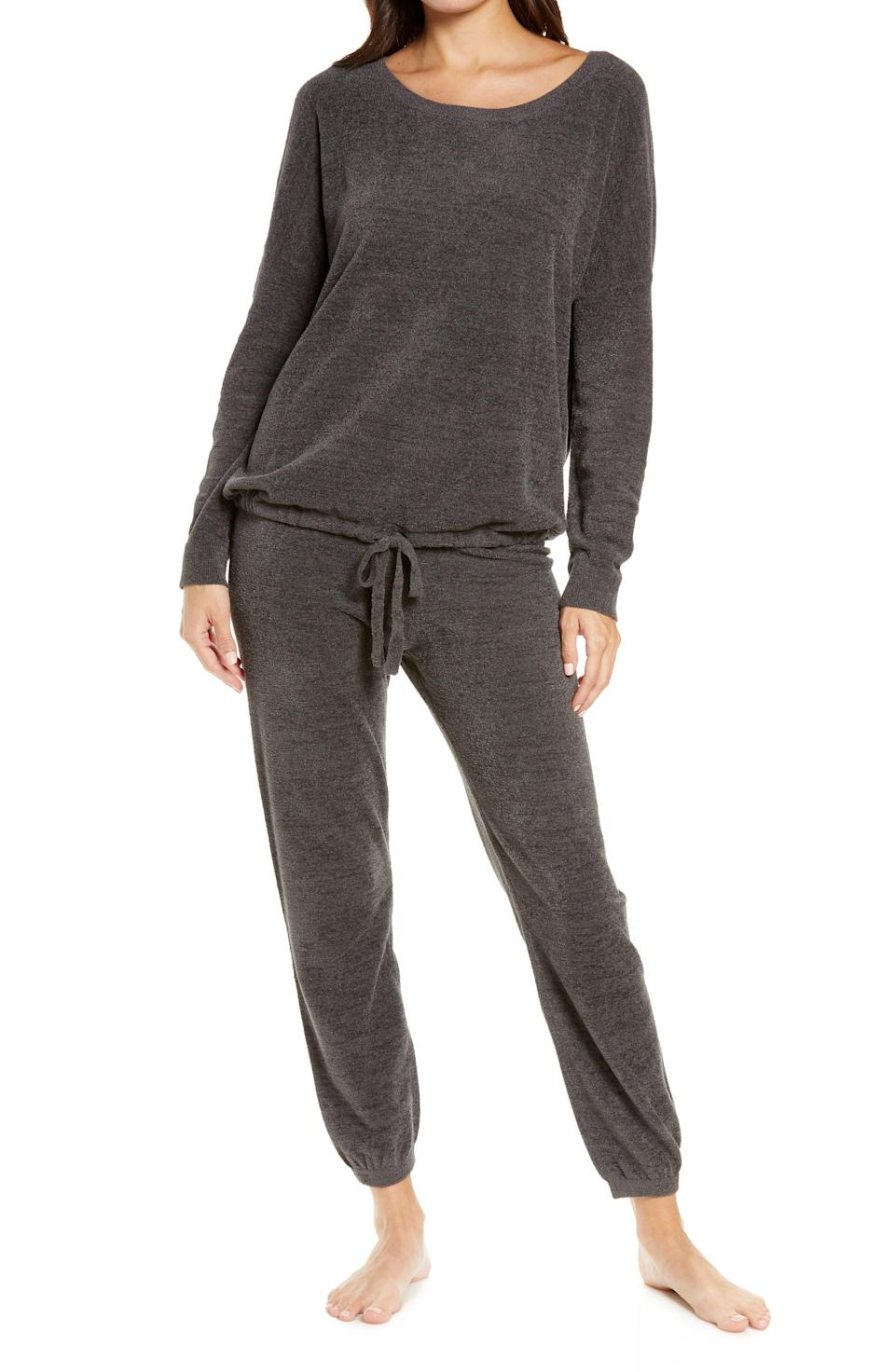 """<p><strong>Barefoot DreamsR</strong></p><p>nordstrom.com</p><p><strong>$188.00</strong></p><p><a href=""""https://go.redirectingat.com?id=74968X1596630&url=https%3A%2F%2Fwww.nordstrom.com%2Fs%2Fbarefoot-dreams-cozychic-luxe-long-sleeve-pajamas%2F5923481&sref=https%3A%2F%2Fwww.womenshealthmag.com%2Flife%2Fg37581188%2Fpajamas-for-women%2F"""" rel=""""nofollow noopener"""" target=""""_blank"""" data-ylk=""""slk:Shop Now"""" class=""""link rapid-noclick-resp"""">Shop Now</a></p><p>Slouchy pajamas need a space in every person's PJ drawer. Between the drawstring at the waist and hem, you get a totally customized fit anyone's bound to love. </p><p>They're made of a super soft fabric perfect for lounging or sleeping.</p>"""