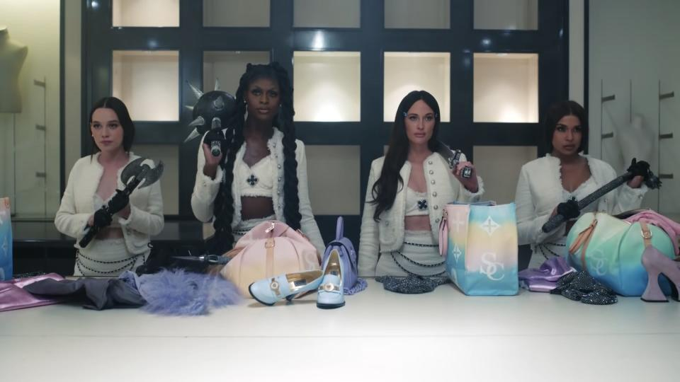 """Victoria Pedretti, Symone, Kacey Musgraves and Princess Nokia in """"Star-Crossed."""" - Credit: Kacey Musgraves/YouTube"""