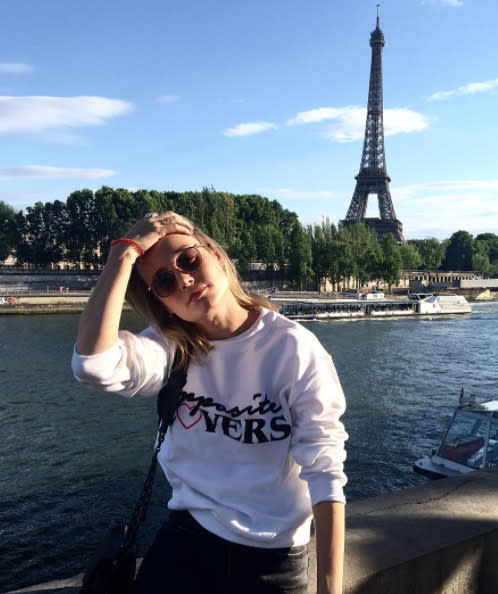 "<p>Paris is for … opposite lovers? Oscar winner Brie Larson, who is clearly a Haim fan, enjoyed a trip to the capital city in July for a fashion show, but she also did a cool hair flip with tallest freestanding structure in France as a backdrop. Multitasking is important. (Photo: <a href=""https://www.instagram.com/p/BWCRXfujYk0/"" rel=""nofollow noopener"" target=""_blank"" data-ylk=""slk:Brie Larson via Instagram"" class=""link rapid-noclick-resp"">Brie Larson via Instagram</a>) </p>"