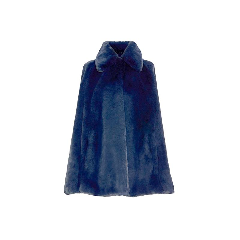 While a plush faux fur is an excellent addition to your wardrobe, so is a faux fur cape, especially when it's from Burberry. Buy now: Burberry coat, $754, farfetch.com.
