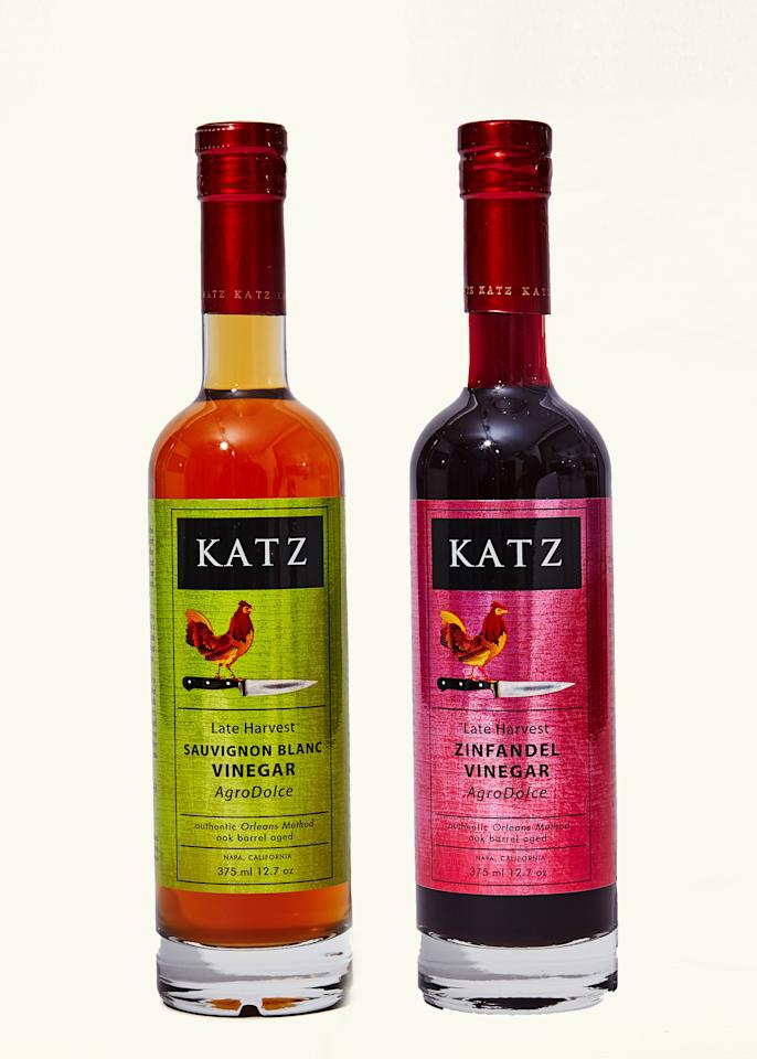 "The <a rel=""nofollow"" href=""https://store.katzfarm.com/katz-late-harvest-sauvignon-blanc-vinegar-p-109.html"">Late Harvest Sauvignon Blanc</a> and <a rel=""nofollow"" href=""https://store.katzfarm.com/katz-late-harvest-zinfandel-vinegar-p-151.html"">Late Harvest Zinfandel</a> vinegars will redefine what sour grapes mean to you. Frankly, any of Katz vinegars will make you eat a lot of salad just to eat more vinegar. Buy it and you will believe. <em><a rel=""nofollow"" href=""https://store.katzfarm.com/artisan-vinegars-c-22.html"">Buy Katz Vinegar, $12.</a></em>"