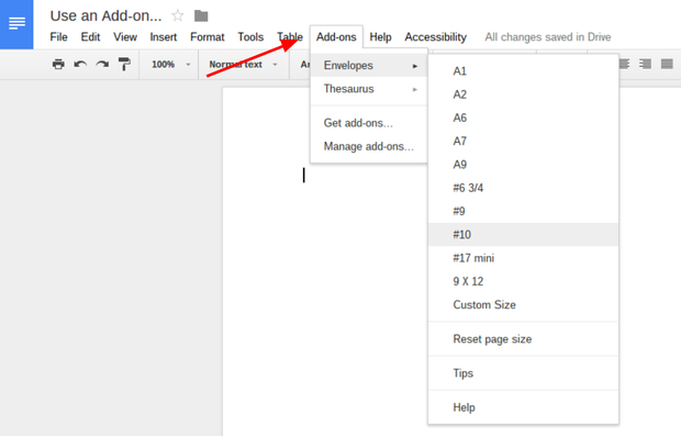 Pro tip how to create an envelope in google docs figure b pronofoot35fo Choice Image