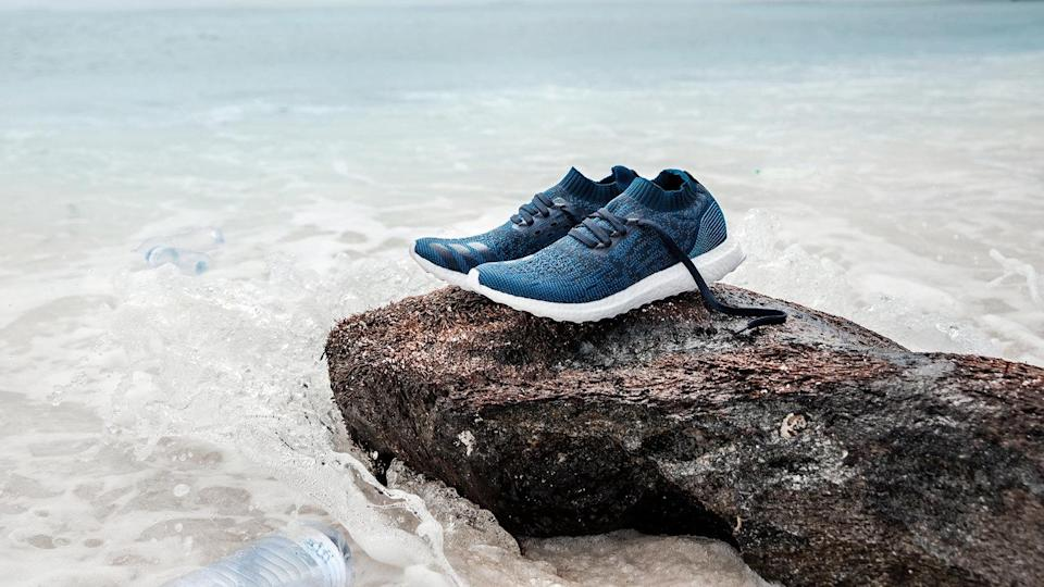 """<p>These trainers are made from 11 plastic bottles that have previously been polluting our oceans. Not only are they incredibly stylish and comfortable, they're part of a movement that aims to spin a problem into a solution by removing marine waste and turning it into treasure. The parntership also sees events called Run for the Ocean, to help raise awareness about the platic entering the water. <br>Source: <a href=""""https://www.adidas.com.au/parley"""" rel=""""nofollow noopener"""" target=""""_blank"""" data-ylk=""""slk:Adidas x Parley"""" class=""""link rapid-noclick-resp"""">Adidas x Parley</a> </p>"""