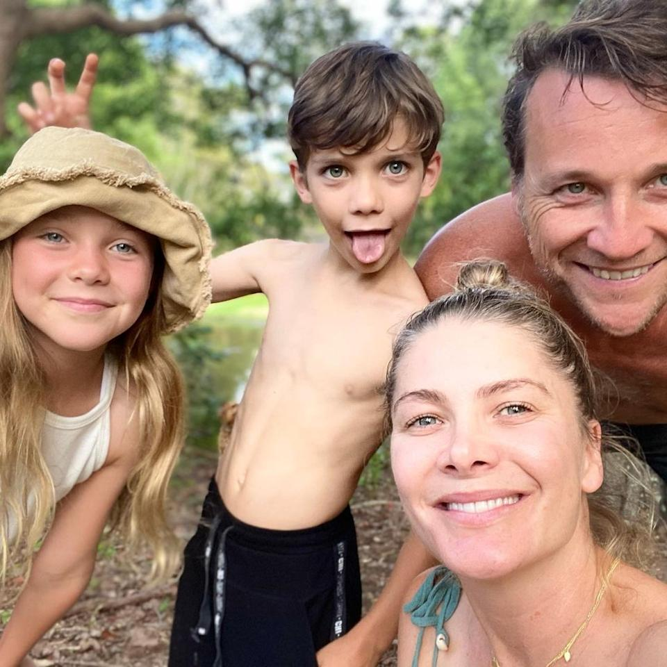 Natalie Bassingthwaighte and her husband, Cameron McGlinchey, and their two children Harper and Hendrix. Photo: Instagram/natbassingthwaighte.