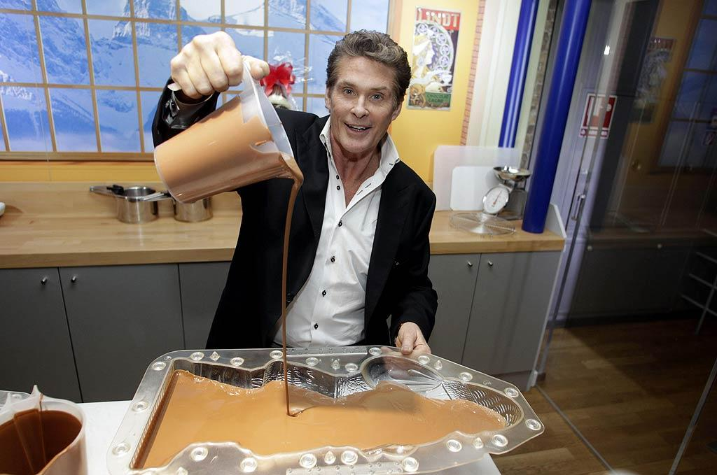 "David Hasselhoff paid a sweet visit to the Chocolate Museum in Cologne, Germany, on Monday. Despite the fact that his A&E reality show -- ""The Hasselhoffs"" -- was canceled after just two episodes, The Hoff seemed to be in rather good spirits while making a chocolate Santa. Yum! <a href=""http://www.splashnewsonline.com"" target=""new"">Splash News</a> - December 20, 2010"