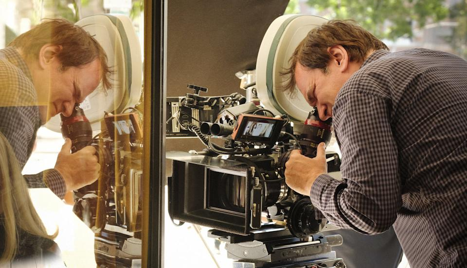 Tarantino on the set of Once Upon A Time In Hollywood (Credit: Sony)